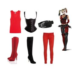 """Harley Quinn (Arkham City)"" by soundofinevitability on Polyvore"
