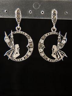 Stříbrné náušnice 925 punc, markazit, křišťálové sklo, víla. 55-565-1506 Alex And Ani Charms, Silver Earrings, Punk, Charmed, Bracelets, Jewelry, Jewlery, Jewerly, Schmuck