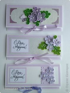 Ideas for quilled envelope