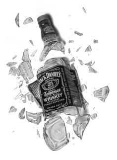 "Intoxicated Drawing by ~golfiscool on deviantART "" Cool rendering & Interesting shading effects is demonstrated. Yet above all I love the combination of softwares, the artist used.. Combination of a 3D & 2D software to create such a great rendering.. My guess 3Dmax for the bottle & photoshop effects for the shading ?! """