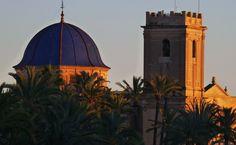 Atardece en la Basílica de Santa María (Elx, Alacant)