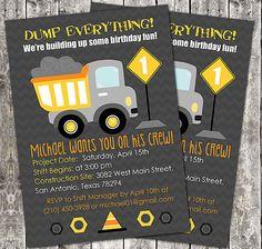 Construction Zone Birthday Invitation, Construction Birthday Party ...