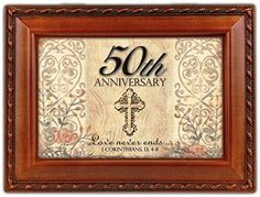 Cottage Garden 50th Wedding Anniversary Decorative Music Jewelry Box Plays Ave Maria Schubert ** Check out this great product.
