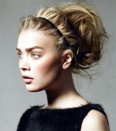 Growing Out Bangs: Sweep back your bangs with a headband. Add some texture with some salt spray for a cool, beachy look.