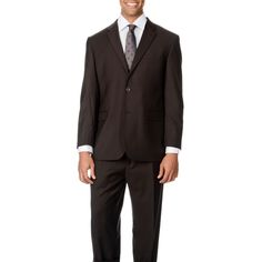Caravelli Italy Men's Big & Tall 'Super 150' 2-button Suit (-56R/52W)