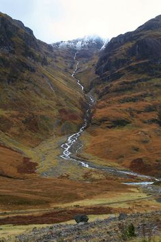 Glen Coe in the Scottish Highlands shows off the unique colours often found in nature. The browns we see are nice as they are all natural and aren't caused by pollution.