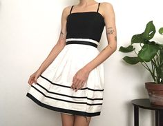 Betsey Johnson Black and White Dress / 50's style / by SISTERWORLD