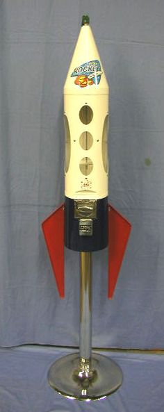 "vintage gumball machines | 1122: LYPC 25c. ""Retro Rocket"" gumball machine"