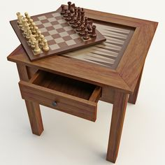 model: This Chess Table 2 is a high quality model that will enhance detail and realism to any of your rendering projects. The table has a fully textured, detailed design that allows for close-up . Coffee Table Chess Board, Wood Chess Board, Board Game Table, Chess Table, Table Games, Game Tables, Home Office, Tea Tray, 3d Models