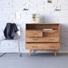 Commode acacia – Commodes avec quatre tiroirs Oslo - Tikamoon