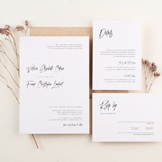 Minimalist Wedding Invitations with Brush Calligraphy, Editable Templates, Templett, by WeddingDIYBoutique on Etsy Minimalist Wedding Invitations, Wedding Invitation Kits, Program Template, Envelope Liners, Childrens Party, Wedding Programs, Rsvp, Card Stock