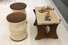 ecovative and biomason unveil mushroom furniture   Jules Notes: Meanwhile, the latest hipster mushroom creations: brought to you weekly by this Pinterest board!