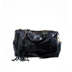 PAOLO IANTORNO Noe Lady Handbag (€255) ❤ liked on Polyvore featuring bags, handbags, shoulder bags, black, handbag purse, handbags shoulder bags, cell phone purse, man bag and tassel handbags