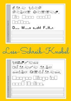 Lese-Schreib-Knobel Heftchen Grundschule Lesen, Schreiben Rätselschrift Differenzierung