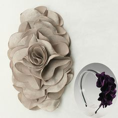 Satin Flower Motif Corsage Brooch for Headband Hair by annielov, $2.60
