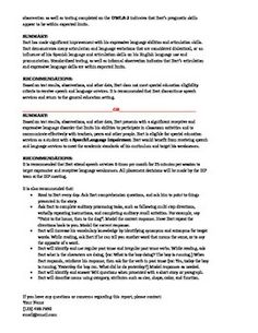 Evaluation report template for pls 5 from the tlc shop on speech and language assessment report sample template altavistaventures Image collections