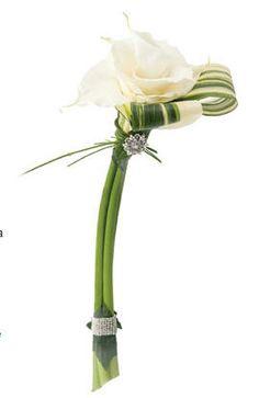 White calla composite bouquet