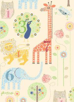 Safari Print by Jill McDonald Design