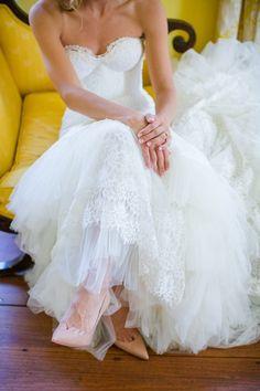 Dramatic Inbal Dror Wedding Gown // Lowndes Grove Bridal Portrait Session // Dana Cubbage Weddings // Charleston SC Wedding Photography