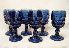 Viking Glass Georgian Blue Gray Wine Glass Set Wine Glass Set, Mason Jar Wine Glass, Cobalt Blue, Blue Grey, Gray, Viking Glass, Georgian, Bristol, Vikings
