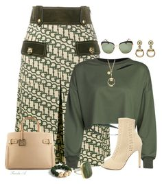 """""""Olive"""" by freida-adams ❤ liked on Polyvore featuring Gucci, Steve Madden, Ann Taylor and Prada"""