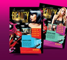 Beauty Salon A Flyer  Flyer Printing Print Templates And A