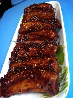 Honey Garlic Baby Back Ribs 蜜汁蒜香猪小排 Pork Rib Recipes, Easy Steak Recipes, Asian Recipes, Cooking Recipes, Chinese Recipes, Back Ribs In Oven, Honey Garlic Ribs, Pork Casserole, Taiwanese Cuisine