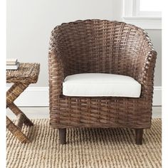 Safavieh Omni Barrel Brown Chair