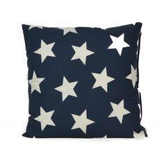 32,00 mit Fülle, 50*50 Kissen mit Sternen, dunkelblau