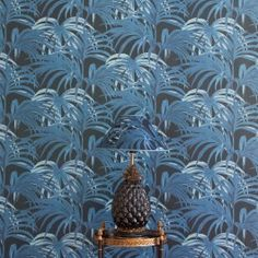 House of Hackney PALMERAL WALLPAPER MIDNIGHT / AZURE