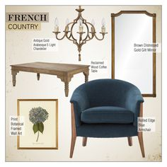 """""""French Country Decor"""" by kathykuohome ❤ liked on Polyvore featuring interior, interiors, interior design, home, home decor, interior decorating, WALL, country, livingroom and homedecor"""