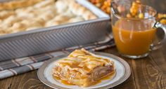 Caramel Apple Slab Pie || Using the season's signature flavors, this dish combines warm cinnamon spice, sweet honey crisp apples and crave-worthy caramel topping to create a delectable dessert that is the perfect finish to any meal. Photo credit: Julie Gransee from Lovely Little Kitchen. image