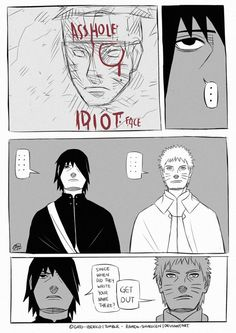Boruto did it again! XD Then Sasuke and Naruto saw it XD ~ their reaction feels like XD