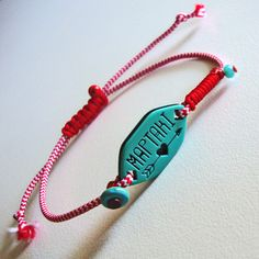Red Button, Macrame, Projects To Try, Jewelry Design, March, Personalized Items, Facebook, Bracelets, How To Make