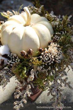 Halloween Folk Art by Melissa Valeriote: Baby Boo Pumpkins** Modern Fall Decor, Fall Home Decor, Holiday Decor, Holiday Parties, Thanksgiving Decorations, Halloween Decorations, Thanksgiving Games, Fall Decorations, Pumpkin Centerpieces