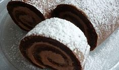 Kakaová roláda bez mouky Healthy Cake, Healthy Diet Recipes, Sweet Desserts, Sweet Recipes, Baking Recipes, Cookie Recipes, Cake Roll Recipes, Czech Recipes, Chocolate Sweets