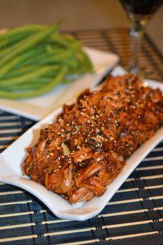 Lili Popotte: Terryaki Schweinefleisch mit Slow Cooker - My CMS Crock Pot Slow Cooker, Slow Cooker Recipes, Crockpot Recipes, Cooking Recipes, Pork Recipes, Asian Recipes, Chicken Recipes, Ethnic Recipes, Tapas