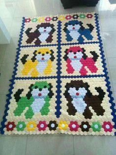 hexie dog quilt. Fun!