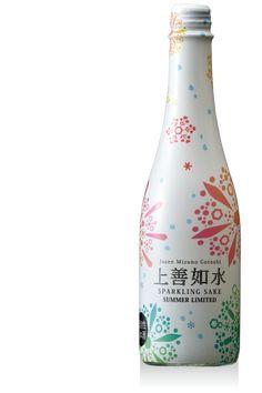 12ヶ月の上善如水|白瀧酒造 株式会社 8月夏のスパークリング alc.8~9%、精米歩合60%、日本酒度-50度 360ml720円