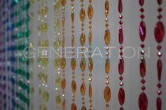 Doorway Beaded Curtains Pendant Swirl Rainbow - GenerationStore.com