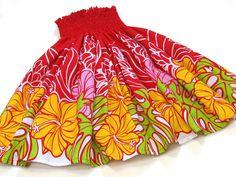 赤のパウスカート・ハイビスカス no.6074 Hula Dancers, Hawaiian, Dancing, Island, Summer Dresses, Shirts, Outfits, Fashion, Moda
