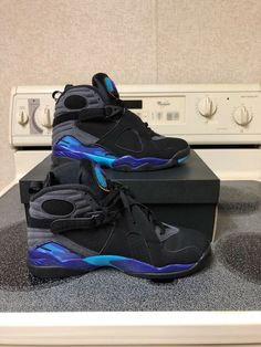 best authentic 9d2f1 ed5ee Air Jordan Retro 8 Aqua Mens Size 8.5  fashion  clothing  shoes  accessories