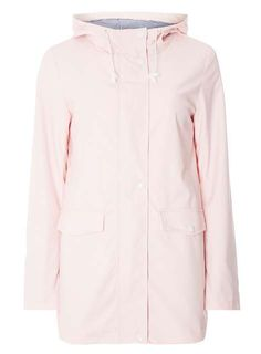 Pale pink button front raincoat with striped lining and white detailing.<br /><br />Model is and wears a size Dorothy Perkins Coats, Pink Raincoat, Pale Pink, Pink Ladies, Duster Coat, Mac, Buttons, Polyvore, Jackets