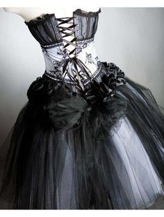 Black Gothic Wedding Dresses | Home > Gothic > Black Gothic Corset Prom Dress