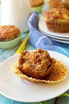 Dairy-free Cheddar Apple Muffins #vegan #healthybaking Healthful Pursuit   Healthful Pursuit