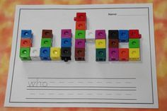 Using math snap cubes is a fun way for students to practice their sight words! Kindergarten-5th grade dolch list words. This would be a great daily 5 word work or literacy center!