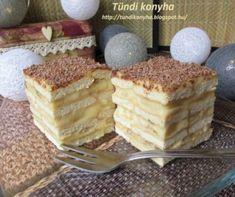 Kekszes-banános krémes süti Recept képpel - Mindmegette.hu - Receptek No Bake Treats, Sweet Recipes, Tiramisu, Cheesecake, Food And Drink, Pie, Cookies, Baking, Ethnic Recipes