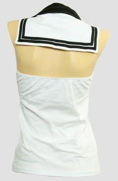 #TS V #stripe #white #Top #Sailor #Top #fashion