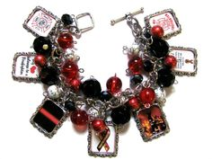 Firefighters Wife/Girlfriend Charm Bracelet by MoonstruckBoutique, $33.00