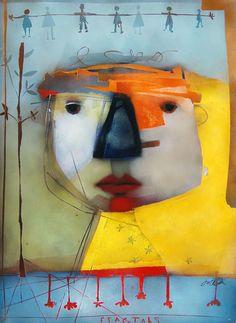 Ftactlals, Mixed Media Painting, Terri Hallman